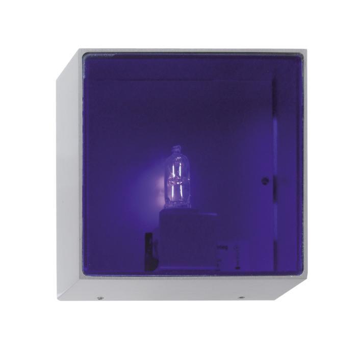 1420B/.. - CANVAS A, opbouw wandlicht - met blauw glas