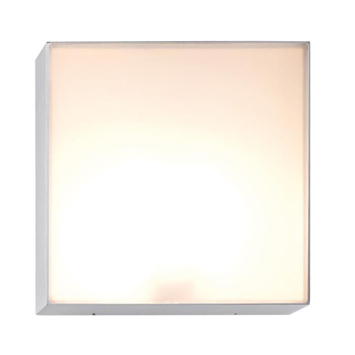 1421W/.. - CANVAS B, opbouw wandlicht - vierkant - met opaal wit glas
