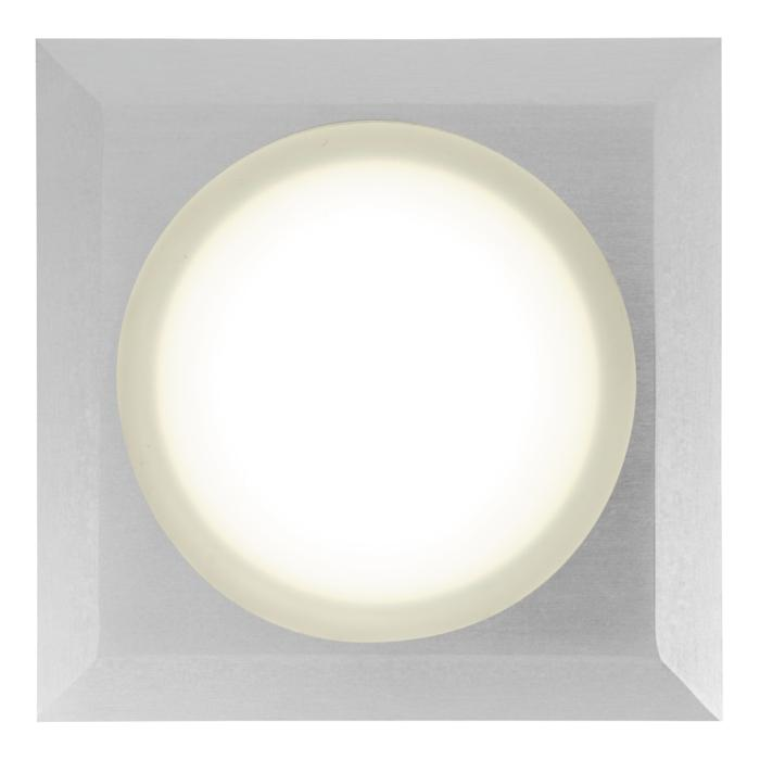 W1683.OP/.. - CATWALK, inbouw vloer- of wandlicht - vierkant - met opale plexi (OP) - zonder transfo