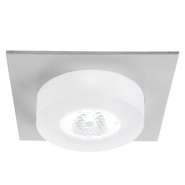 1361.S2/.. - CESAR X, inbouw plafond- en wandlicht - vierkant - down - aansluiting met lusterklem - met optische lens in een plexi omhulsel - zonder LED driver