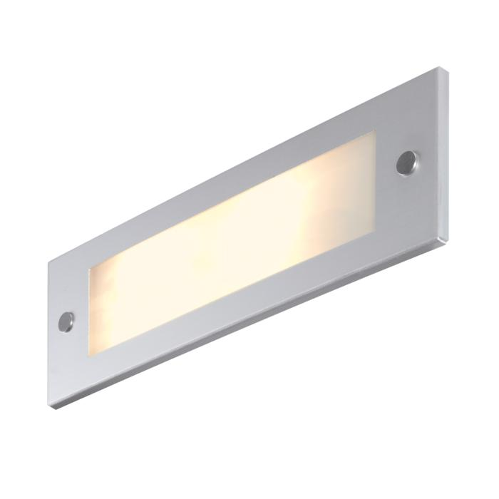 1232ALED/.. - COMPACT LED, inbouw wandlicht - standaard opaal wit glas