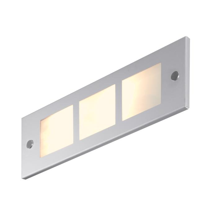 1232DLED/.. - COMPACT LED, inbouw wandlicht - standaard opaal wit glas