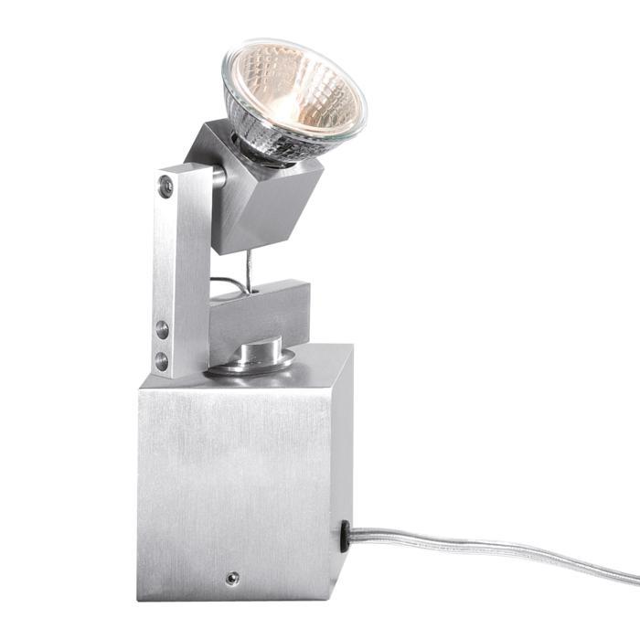 978T/.. - CUBIC, tafellamp - richtbaar - met schakelaar - snoer en stekker - met transfo