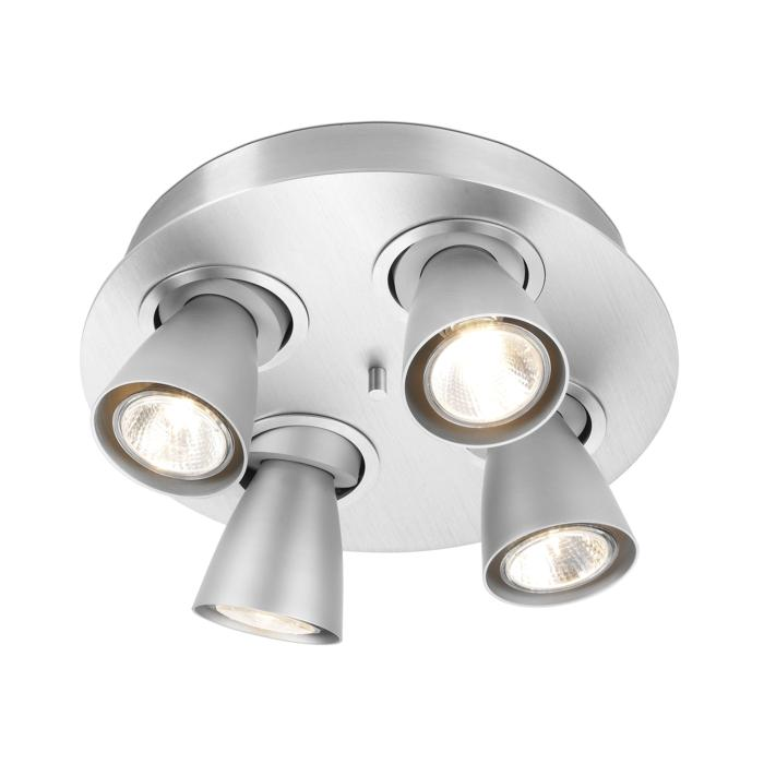 624.ES63/.. - CUPIDO IV, opbouw plafondverlichting - richtbaar - kelk Ø78 H85