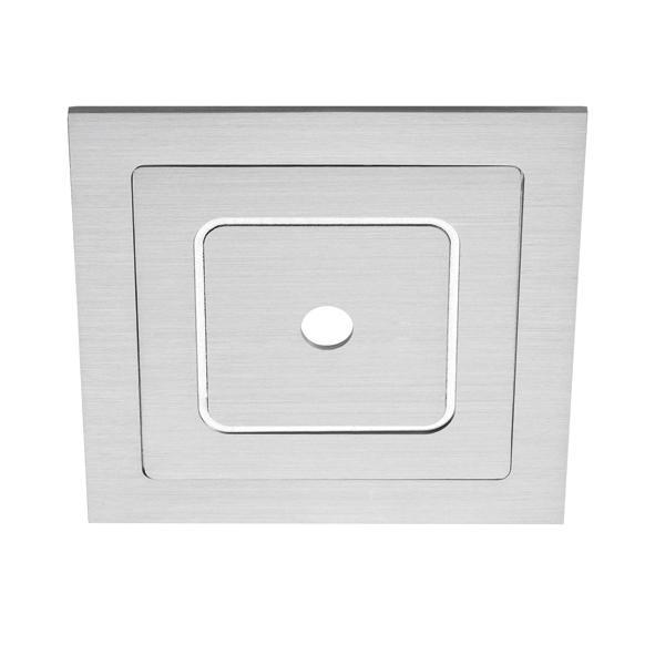 DECO50/.. - Ø80, inbouwbasis voor spot of pendel - vierkant
