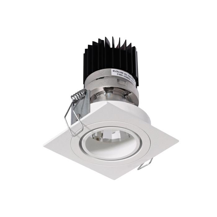3395.IP20.S1/.. - Ø70 LUXOR.IP20, inbouwspot - vierkant - richtbaar - down - met led - zonder LED driver