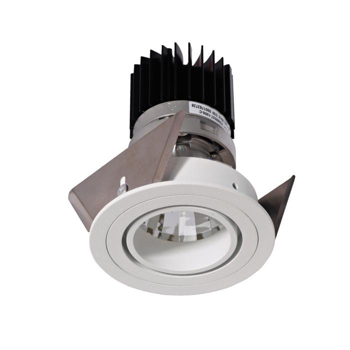 3392.IP20.S2/.. - Ø70 LUXOR.IP20, spot encastrable - rond - orientable - down - avec led - sans driver LED
