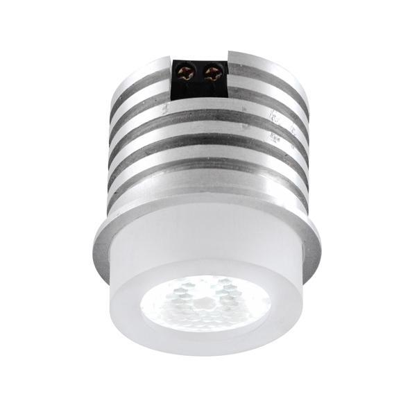 1372/.. - FELIX, inbouwspot voor verandaprofielen - rond - vast - down - met optische lens in plexi behuizing - zonder LED driver