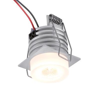 W1376/.. - FELIX, inbouwspot voor verandaprofielen - vierkant - vast - down - met optische lens in plexi behuizing - zonder LED driver