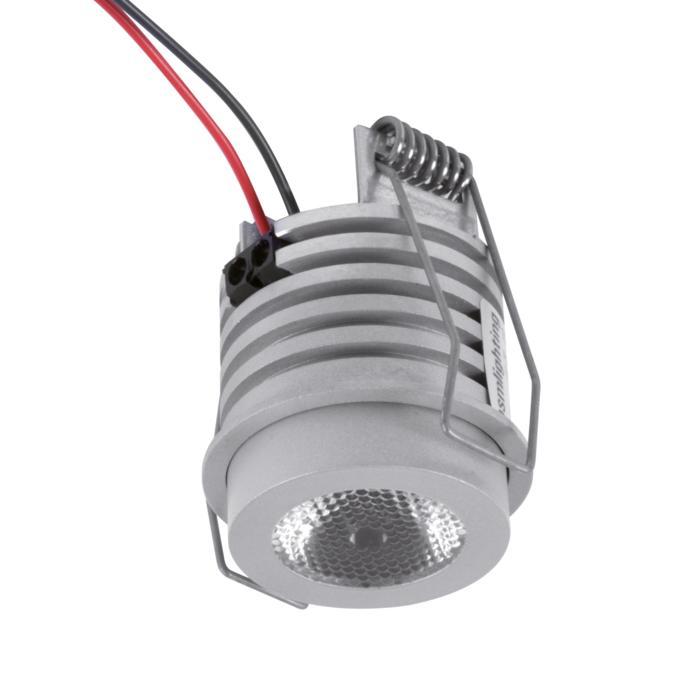 W1371/.. - FELIX, inbouwspot voor verandaprofielen - rond - vast - down - met optische lens in alu behuizing - zonder LED driver