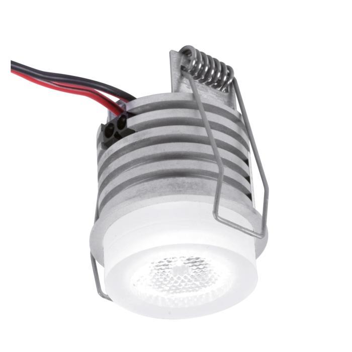 W1372/.. - FELIX, inbouwspot voor verandaprofielen - rond - vast - down - met optische lens in plexi behuizing - zonder LED driver