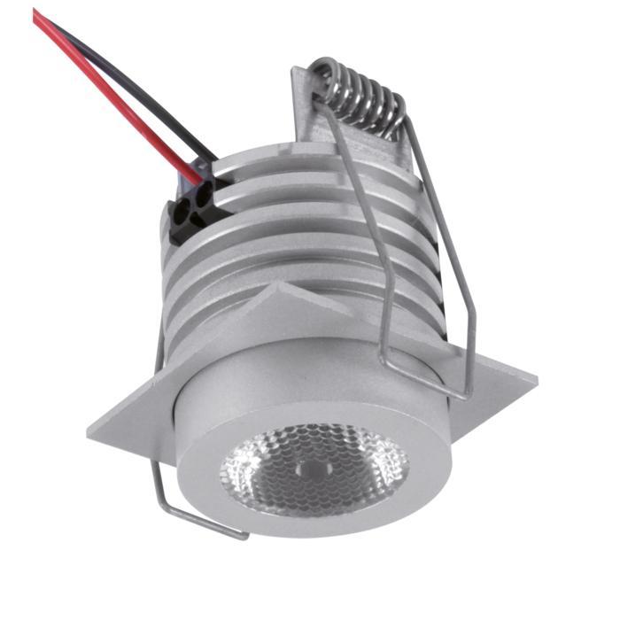 W1375/.. - FELIX, inbouwspot voor verandaprofielen - vierkant - vast - down - met optische lens in alu behuizing - zonder LED driver