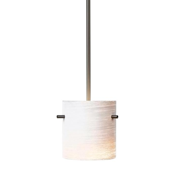 4028.B3/.. - GUILIA C, hanglamp met bolgewricht - stang inkortbaar - glas GL2718CG wit-grijs inbegrepen - zonder transfo