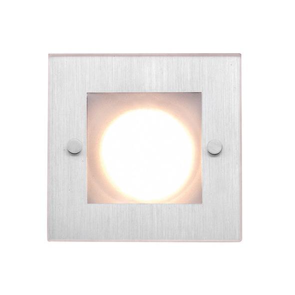 KUBOGLAS50/.. - Ø80, Einbaustrahler - viereckig - fest - zweite Farbe für Innenplatte - mit Glass - ohne Trafo