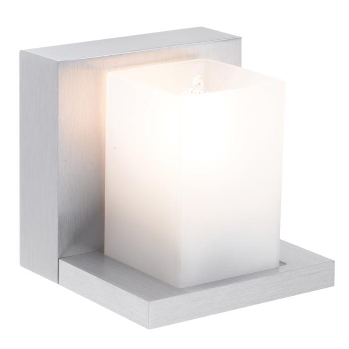1600/.. - LARA, opbouw wandlicht - vierkant - vast - up - met glas