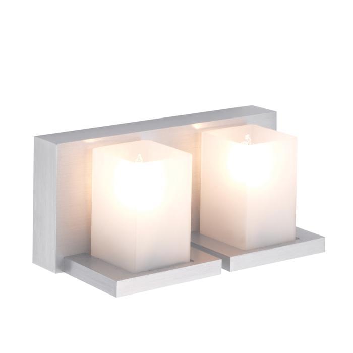 1602/.. - LARA, opbouw wandlicht - vierkant - vast - up - met glas