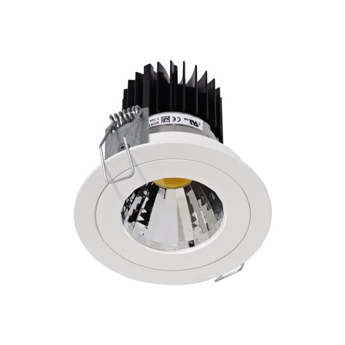 1382.IP20.S1/.. - Ø80 LUXOR.IP20, inbouwspot rond - rond - vast - down - met led - zonder LED driver