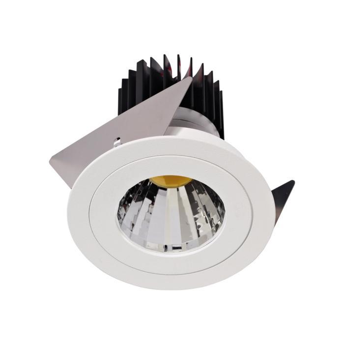 1382.IP20.S2/.. - Ø80 LUXOR.IP20, inbouwspot rond - rond - vast - down - met led - zonder LED driver
