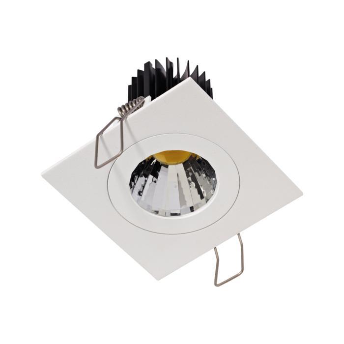 1383.IP20.S1/.. - Ø80 LUXOR.IP20, spot encastrable carré - carré - fixe - down - avec led - sans driver LED