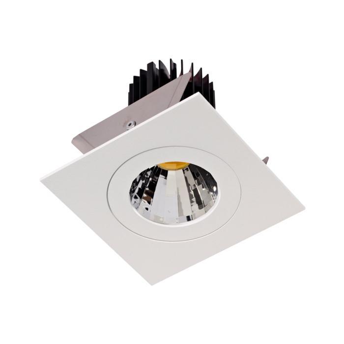 1383.IP20.S2/.. - Ø80 LUXOR.IP20, inbouwspot vierkant - vierkant - vast - down - met led - zonder LED driver