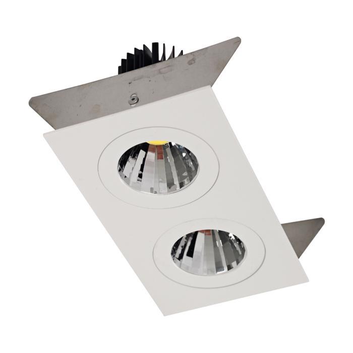 XTM.1300.10036.S2/.. - LUXOR Ø80, inbouwspot - vierkant - vast - met led - zonder LED driver