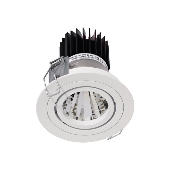1386.IP20.S1/.. - Ø80 LUXOR.IP20, inbouwspot rond - richtbaar - down - met led - zonder LED driver