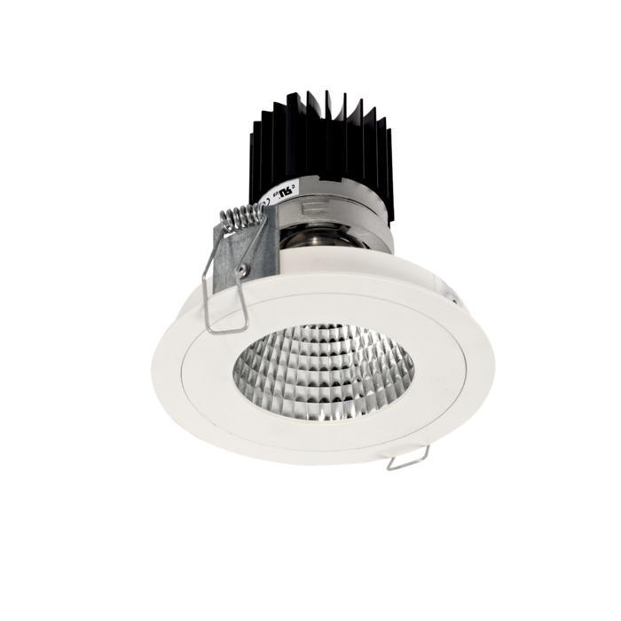 3382.IP20.S1/.. - Ø100 LUXOR.IP20, inbouwspot - rond - vast - down - met led - zonder LED driver