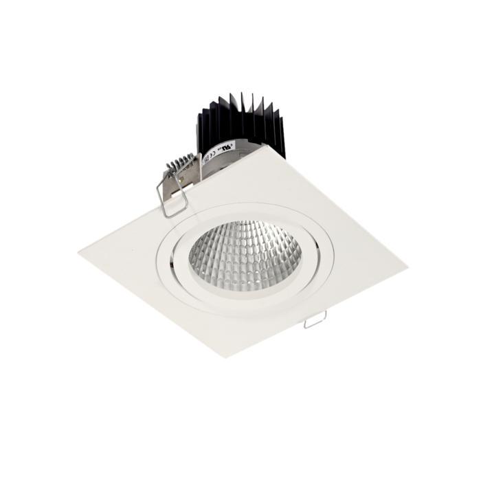 XTM.1300.10040.S1/.. - LUXOR Ø100, inbouwspot - vierkant - richtbaar - met led - zonder LED driver