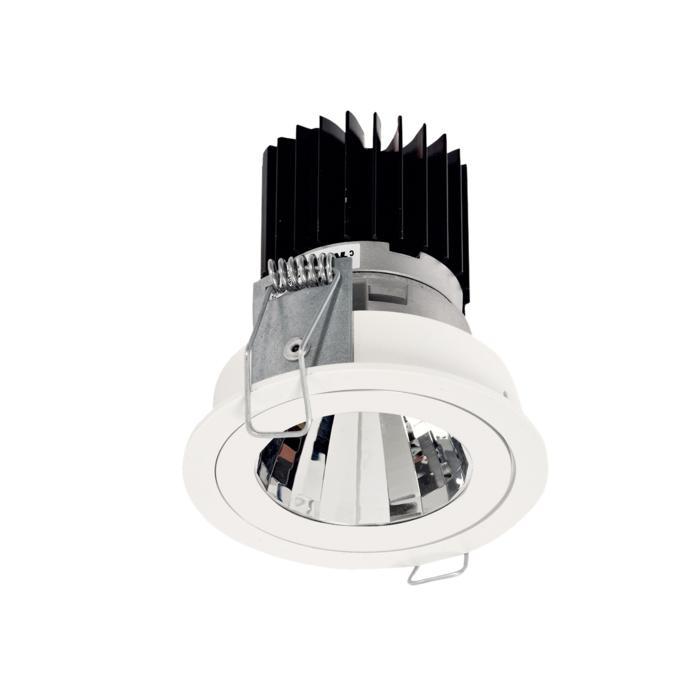 3390.IP20.S1/.. - Ø70 LUXOR.IP20, inbouwspot rond - vast - down - met led - zonder LED driver