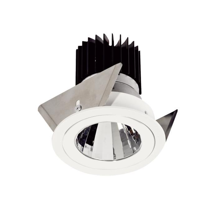 XTM.1300.10024.S2/.. - LUXOR Ø70, inbouwspot - rond - vast - met led - zonder LED driver