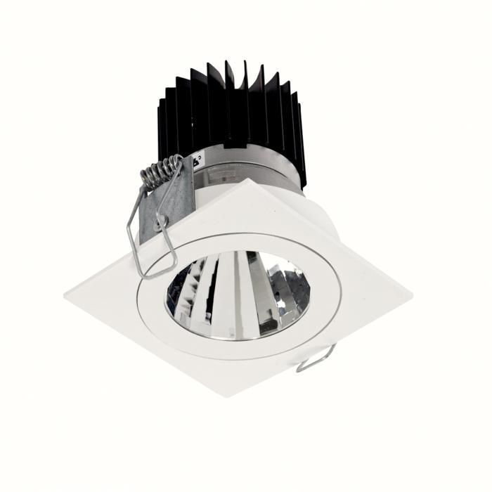 3393.IP20.S1/.. - Ø70 LUXOR.IP20, inbouwspot vierkant - vierkant - vast - down - met led - zonder LED driver
