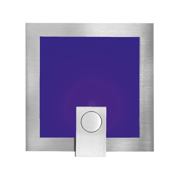 1296B/.. - MEZZO, inbouw wandlicht - met blauw glas