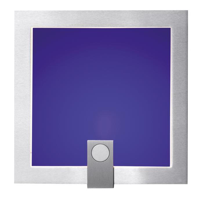 1297B/.. - MEZZO GRANDE, inbouw wandlicht - met blauw glas