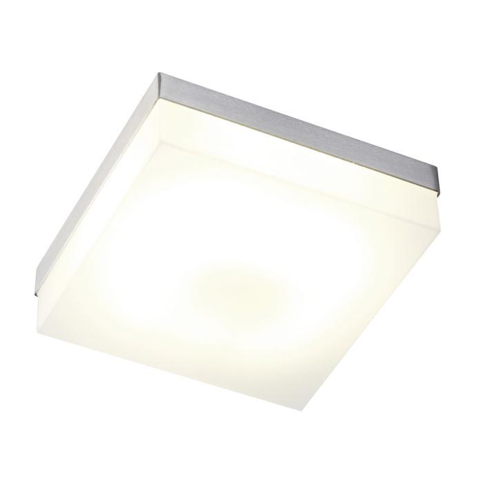 640.200/.. - MONET CARRÉ, plafondverlichting - inox behuizing + polycarbonaat deksel - met electronische ballast