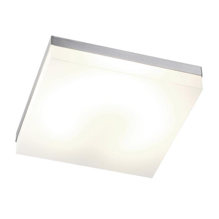 640.300/.. - MONET CARRÉ, plafondverlichting - inox behuizing + polycarbonaat deksel - met electronische ballast