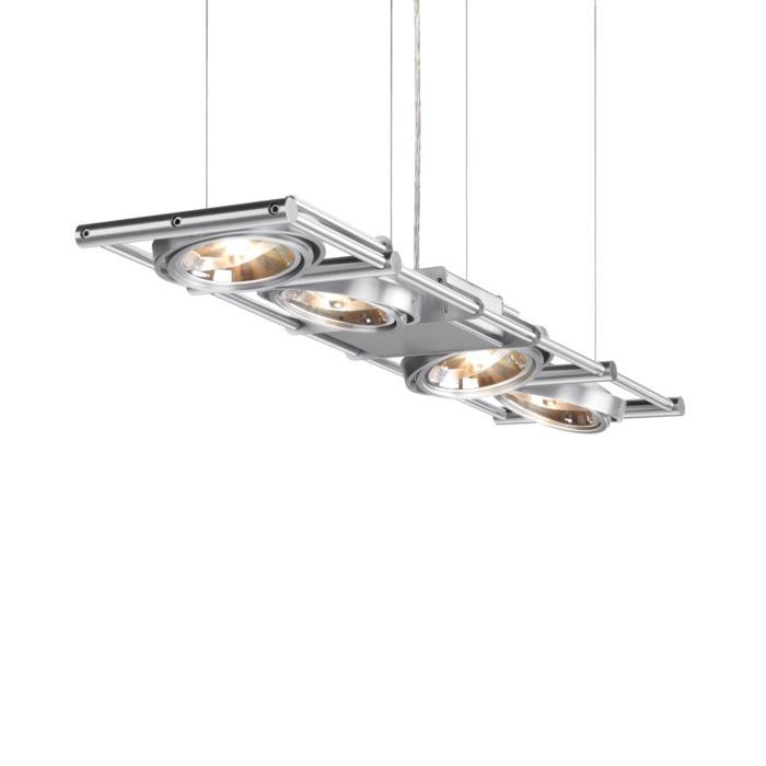 1435/.. - OPERA 4 IN LINE, hanglamp - richtbaar - met transfo