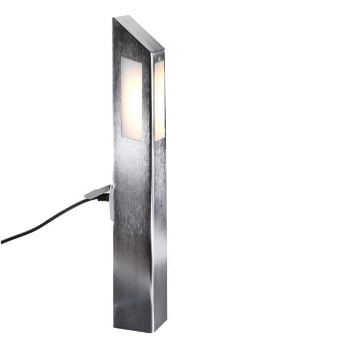 T453.600.LED/.. - PONTOS, tuinpaal met stopcontact - vast - 3 openingen - met stopcontact