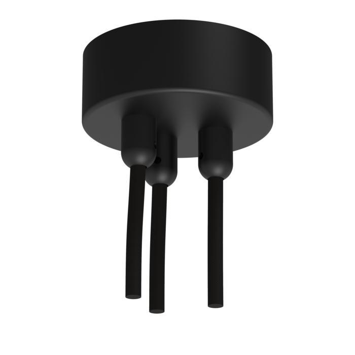 073B.3/.. - ROSETTE for textile cable, opbouwrozet - verbindingsdoos met trekontlastingen voor 3 textielkabels