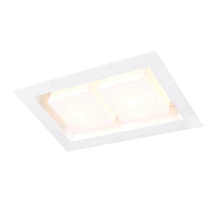 1522A.LED/.. - SNOWBOX LED, plafonnier encastrable - carré - sans driver LED