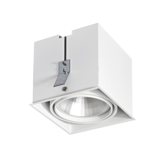 4071.IP20/.. - LUXOR - SPINNER, inbouwspot - vierkant - richtbaar - down - met led - zonder LED driver