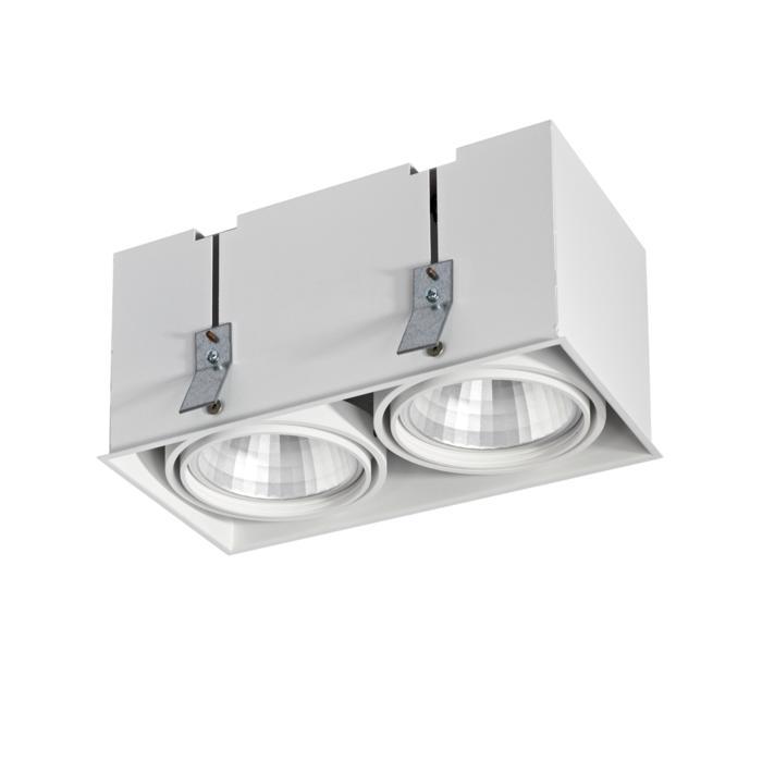 4072.IP20/.. - LUXOR - SPINNER, inbouwspot - vierkant - richtbaar - down - met led - zonder LED driver