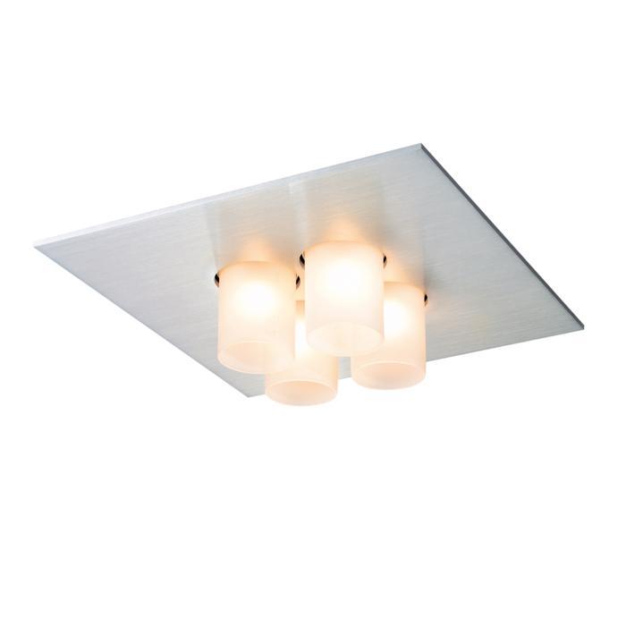 914/.. - TITUS 230V, opbouw plafondverlichting - vast - met glas