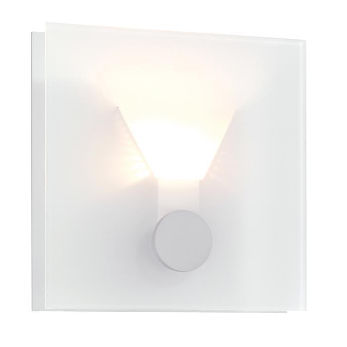 1294W/.. - XENON, opbouw wandlicht - vierkant - met opaal wit glas