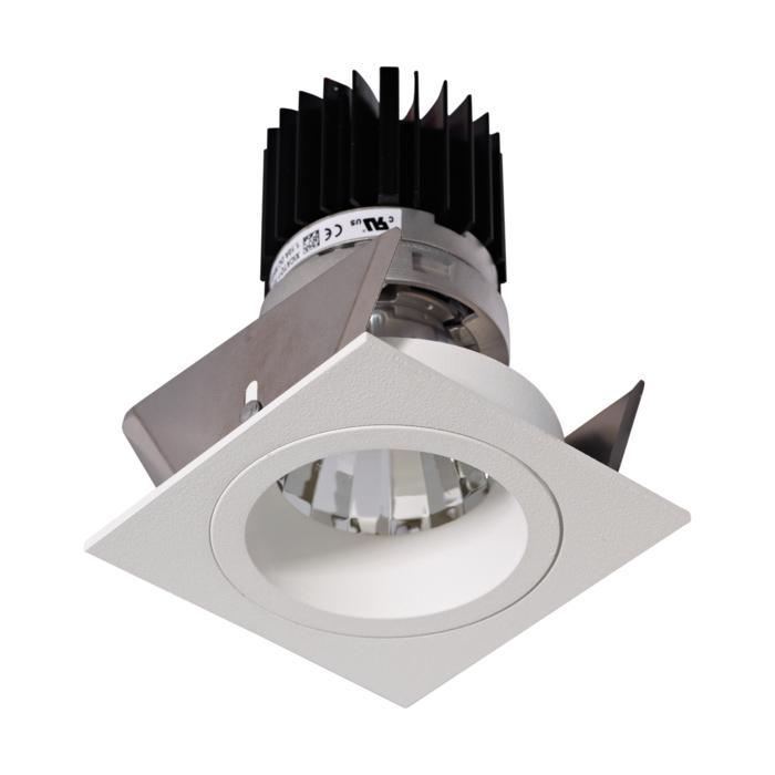 3394.IP20.S2/.. - Ø70 LUXOR.IP20, inbouwspot - vierkant - vast - down - met led - zonder LED driver