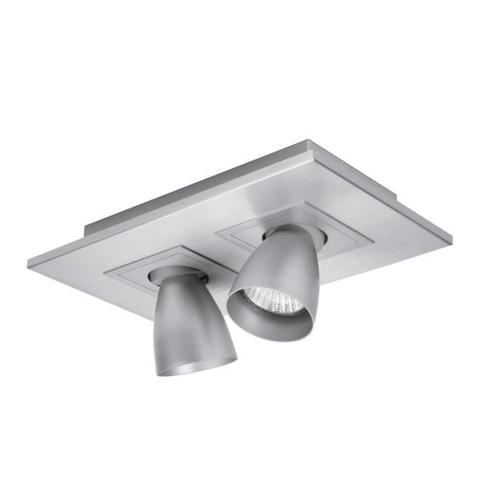 617.ES50.45/.. - ZOOM CLICK + VOLTA, opbouw plafondverlichting - richtbaar - kelk Ø65 H70