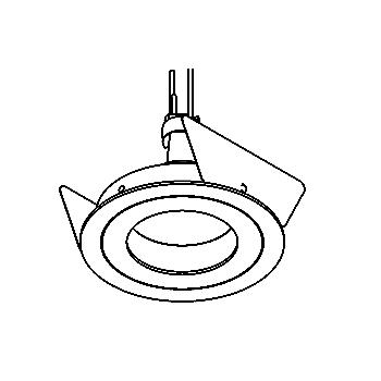 Drawing of PICODOWN50/.. - Ø80, downlight - round - fixed - without transformer
