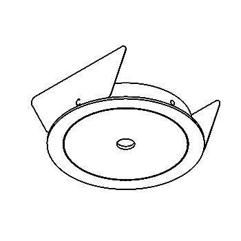 Drawing of ZENO50/.. - Ø80, inbouwbasis voor spot of pendel - rond - zonder transfo