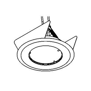 Drawing of 301V/.. - Ø65-70 INOX 316, inbouwspot - rond - vast - zonder transfo