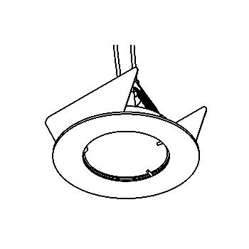 Drawing of 302V/.. - Ø65-70 INOX 316, downlight - round - fixed - without transformer