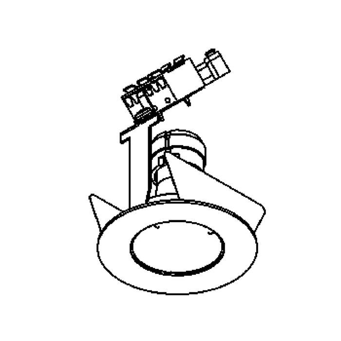 Drawing of 302V.230V/.. - Ø65-70 INOX 316, inbouwspot - rond - vast